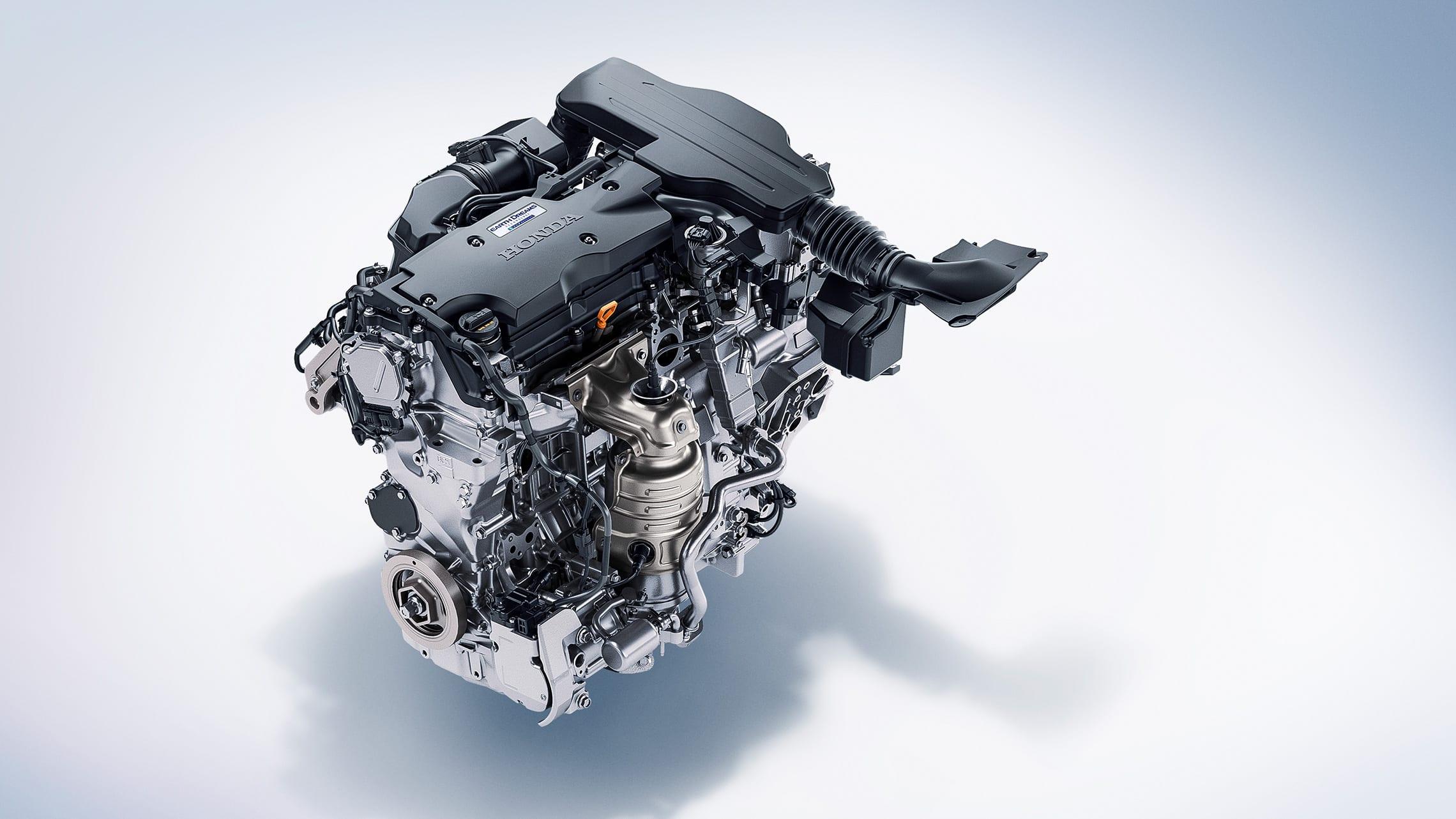 Detalle del motor híbrido en el HondaAccordHybrid2020.