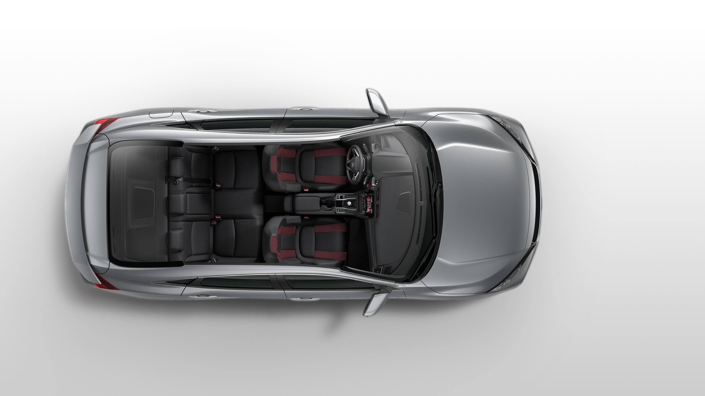 Vista exterior aérea del Honda Civic Si Sedán2020.