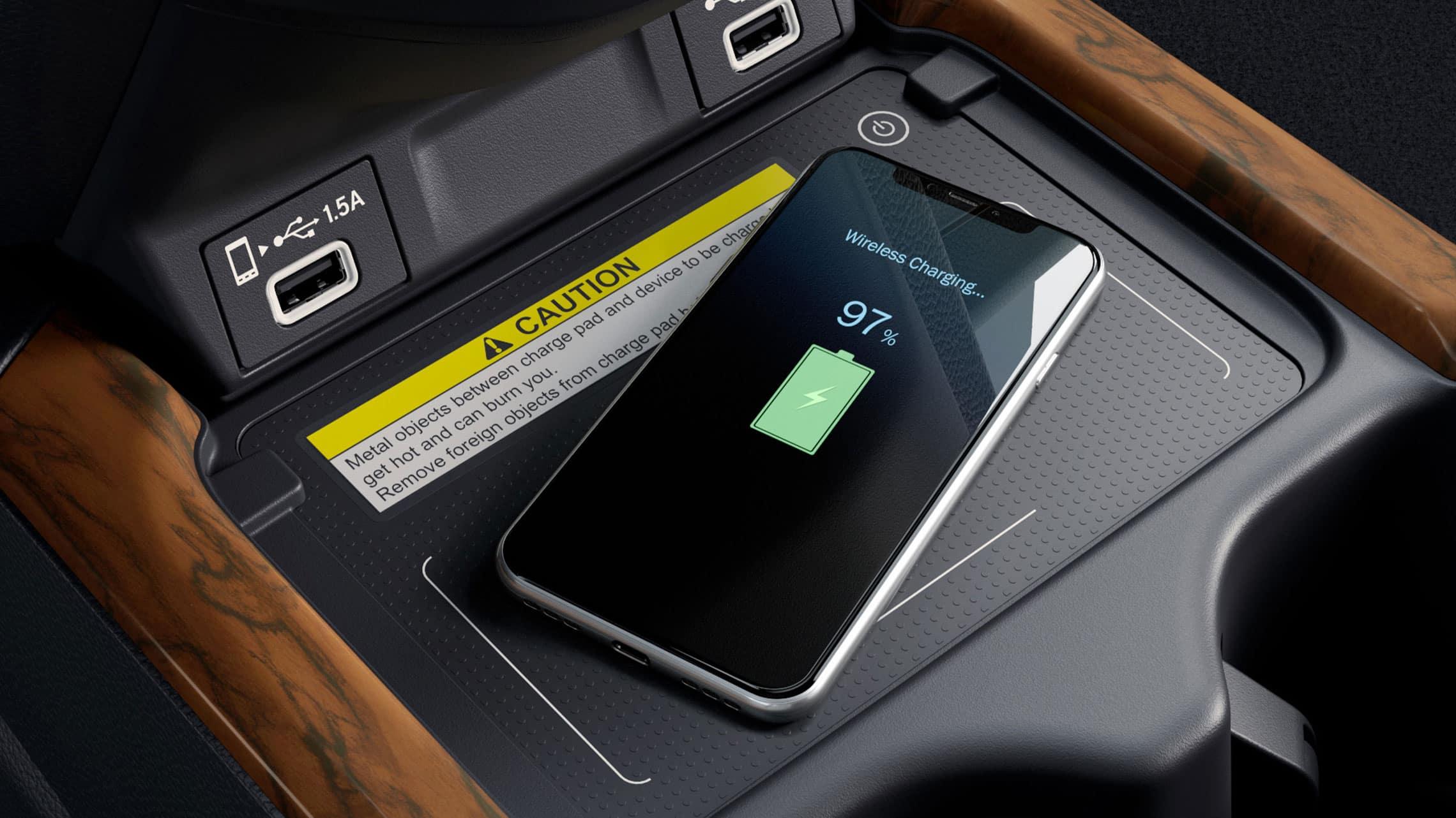 Vista del interior de la Honda CR-V Touring2021 con Gray Leather.
